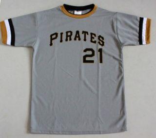 VTG Pittsburgh Pirates MLB Throwback Jersey Shirt #21 Roberto Clemente