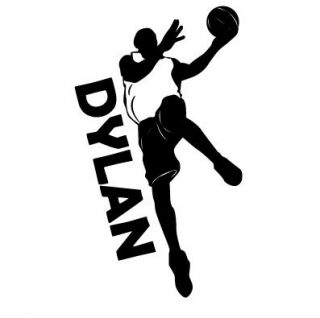 Basketball Kids Personalized Vinyl Wall Lettering Decal