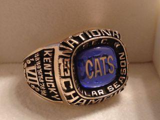 of Kentucky Basketball National Championship Ring 10K Gold