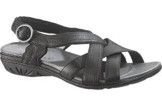 Merrell Women Bassoon Black Leather Sandal J46246