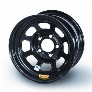 Bassett Racing IMCA 8 Spoke D Hole Black Powedercoated Wheel 58D5475I