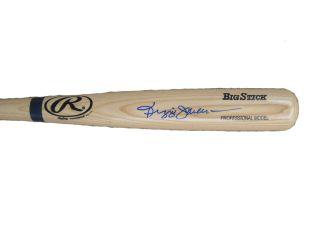 Reggie Jackson Signed Blonde Big Stick Baseball Bat JSA