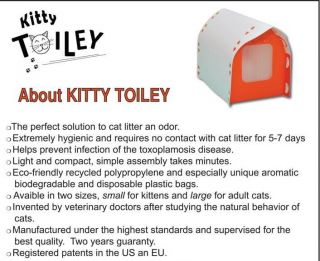 Cat Litter Box Odor Free Kitty Toiley Recycle Pet New Design Green