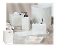 Style Marbelized Ceramic Bath Accessories Bathroom Collection