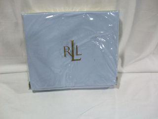 Ralph Lauren Lawton Solid Azure Light Blue Twin Bedskirt