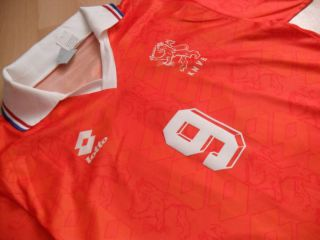 Holland Netherlands VAN BASTEN 9 EURO 92 Rare Vintage Shirt Lotto