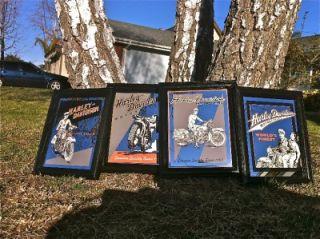 Harley Davidson Motorcycles Authentic Set of 4 Bar Mirrors RARE USA