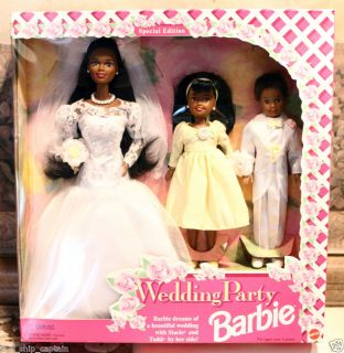 New Wedding Party Barbie African American Bride Black Special Bridal