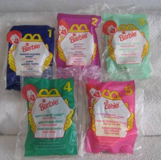 Mattel Barbie Doll McDonalds Happy Meal Toy Set 1997