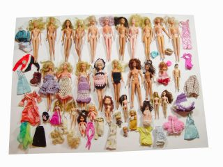 Vintage Mixed Loose Barbie Doll 33 Figures Collectors Dream Lot