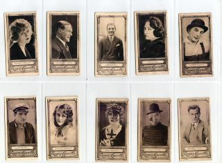 1923 Set 50 Silent Film Stars Cards Ch. Chaplin WS Hart Tom Mix Mary