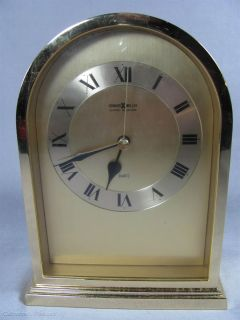 Howard Miller Barwick Collection Quartz Clock Gold Tone Japan Shelf