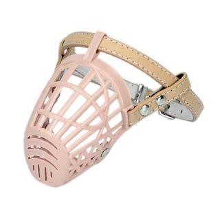 Adjustable Basket Mesh Plastic Cage Pet Dog No Bite Muzzle for Small