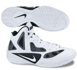 Nike Womens Zoom Hyperfuse Sz 10 Basketball Shoes White/Black
