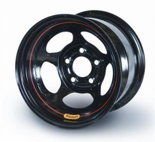 Bassett Racing 5 Spoke IMCA Wissota Inertia Black Powdercoated Wheel