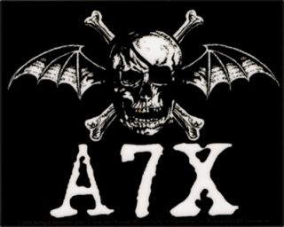 15705 Avenged Sevenfold A7X Skull Bat Wings Bones Metal Emo Punk