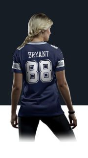 NFL Dallas Cowboys (Dez Bryant) Womens Football Away
