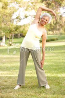 Troisième Âge, Femmes, Parc public, Scène rurale, Exercice Physique