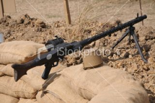 WWII German MG34 Light Machine Gun Royalty Free Stock Photo