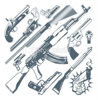 Design Elements   Guns Royalty Free Stock Vector Art Illustration