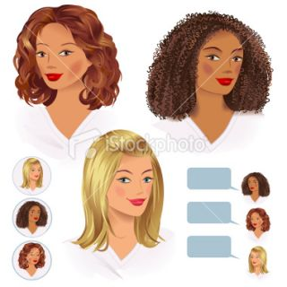 Girls Focus Group Royalty Free Stock Vector Art Illustration