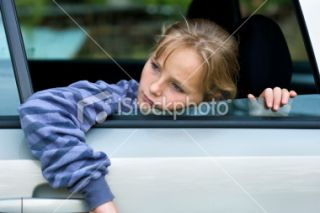 stock photo 10857029 sad girl in car