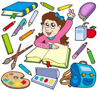 Back to school collection 3 Royalty Free Stock Vector Art Illustration