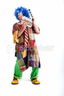 stock photo 11285593 clown holding a clapper