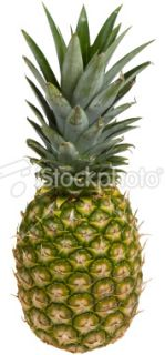 stock photo 9028463 pineapple clipping path