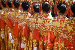 Chinese Girls Drill Team Royalty Free Stock Photo