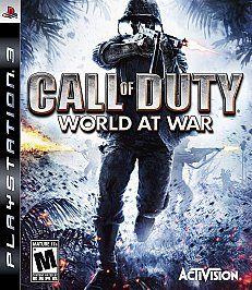 Call of Duty World at War Sony Playstation 3, 2008