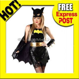 Halloween Special Bat Girl Batman Super Hero Fancy Dress Costume size