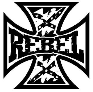 REBEL Maltese Cross Rebel Flag * Vinyl Decal Sticker * Country Diesel
