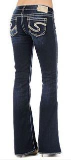 New Silver Womens Jeans Frances 22 Low Rise 25x33 26x33 27x33 28x33