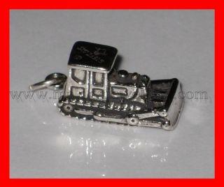 Bulldozer sterling silver charm .925 x 1 Bulldozers Bull Dozer charms