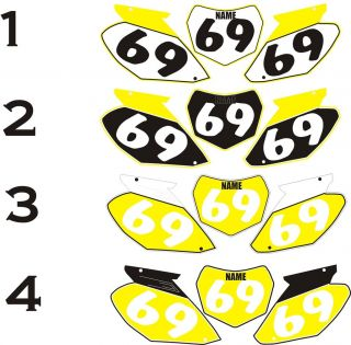 2002 2008 Suzuki RM85 RM 85 Number Plates Side Panels Graphics Decal