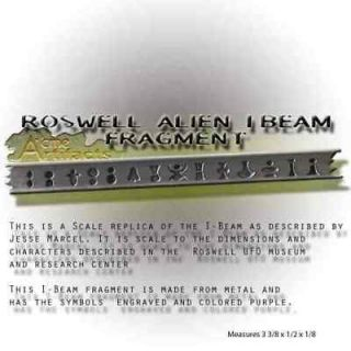 roswell crash alien ship i beam fragment ufo alien one