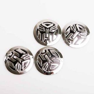 4x Transformers Autobot Car Wheel Center Cap Badge Emblem Sticker kit