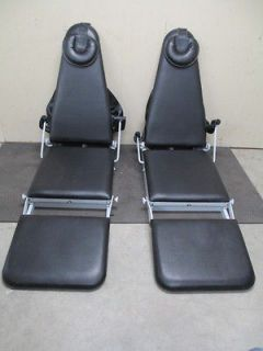 Lot of 2 Dental Mobile Portable Fold Out Exam Chairs w/ Black
