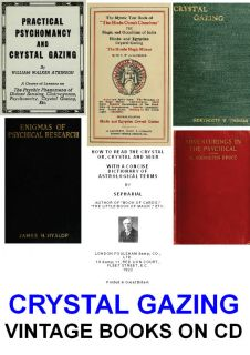 Vintage Books on Data Disc Crystal Ball Gazing Fortune Telling Occult