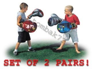 boxing gloves inflatable child toy kids adults fun time left