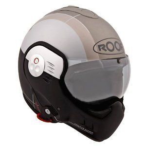 Roof Boxer V8 Star Anthracite Flip Up Motorcycle Helmet Size Small