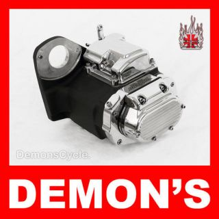 speed black chrome transmission fits harley softail time left