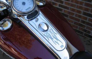 Road King Custom Dash Cover Classic Flames RoadKing Harley 2004 2007