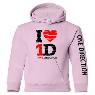 Love One Direction Youth Size Hooded Sweatshirt 1D Hoodie S 5XL