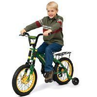 NEW JOHN DEERE 35016 GREEN HEAVY DUTY 16 TRAINING / BIKE BICYCLE NEW