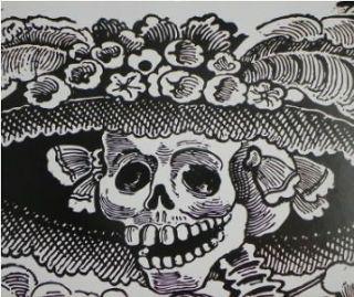 Day of the Dead Dia de los Muertos Sugar Skull Full Image 50 x 60