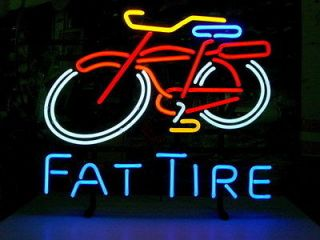 Newly listed NEW FAT TIRE BEER BICYCLE REAL NEON LIGHT BAR PUB SIGN