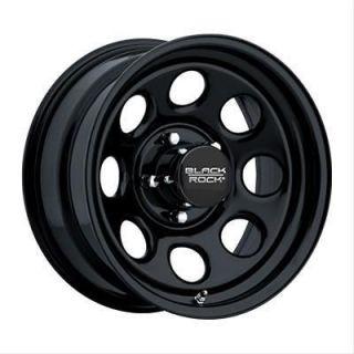 Black Rock Series 997 Type 8 Matte Black Wheel 15x8 5x4.5 BC Set of