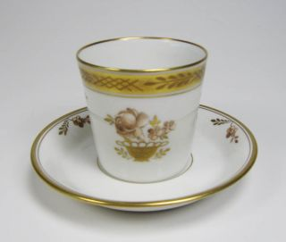 royal copenhagen gold basket demitasse cup saucer 595 time left
